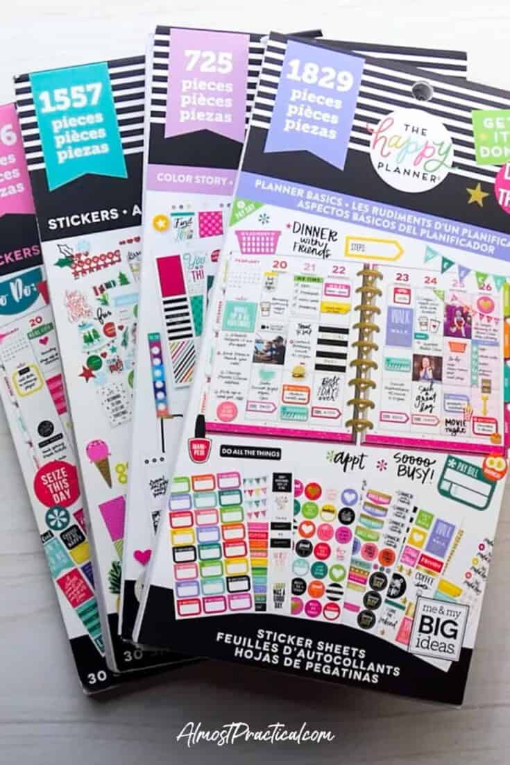 selection of 4 Happy Planner Sticker Books