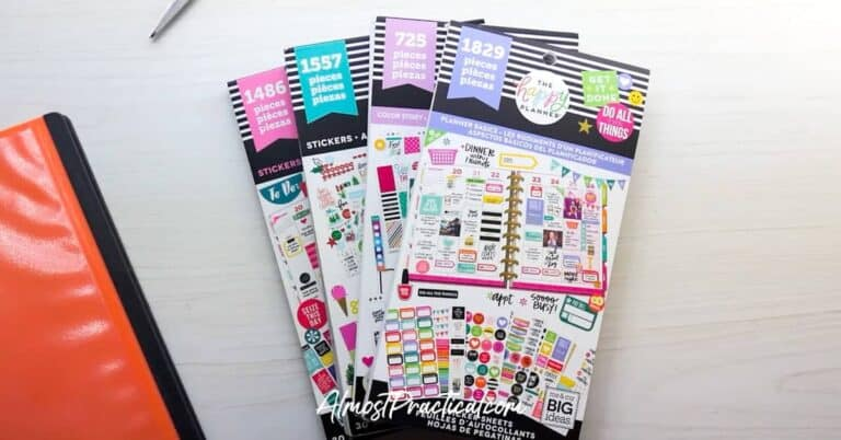 How to Organize Happy Planner Stickers