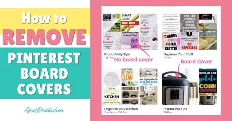 How to Remove Pinterest Board Covers