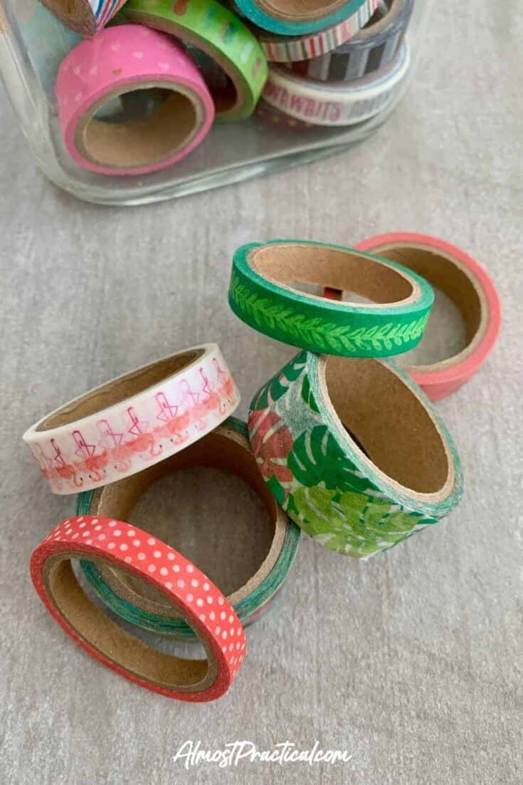 Washi tape rollls from one of Martha Stewart's Collection