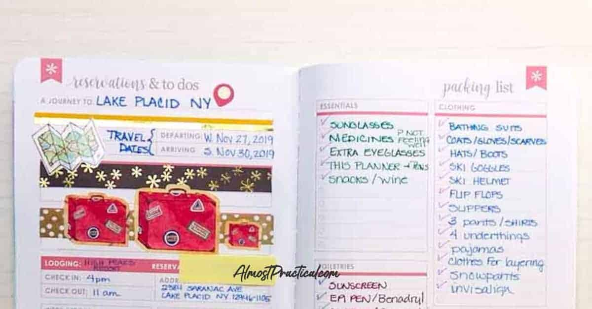 Inside the Erin Condren Travel Journal planning pages.