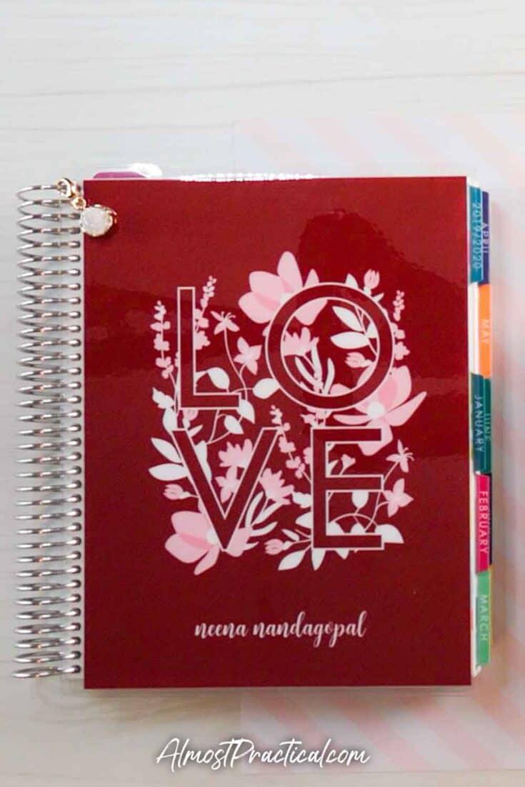 Erin Condren LifePlanner Valentine's Day Cover