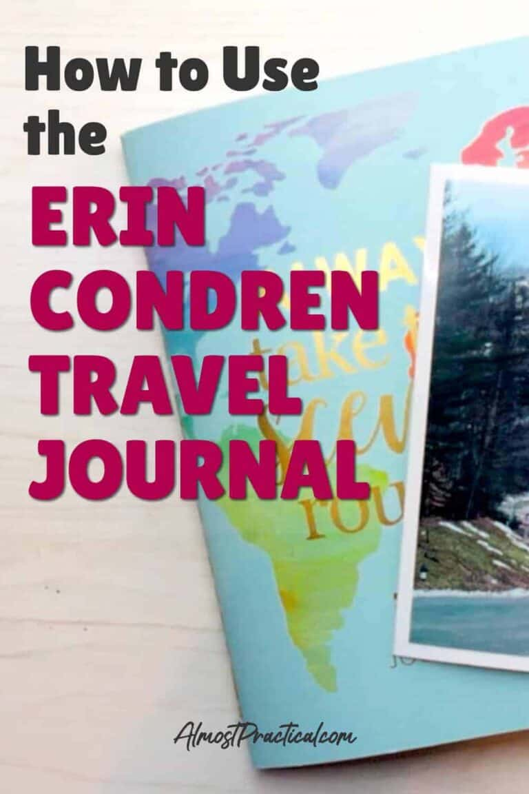 Erin Condren Travel Journal – How I Use It