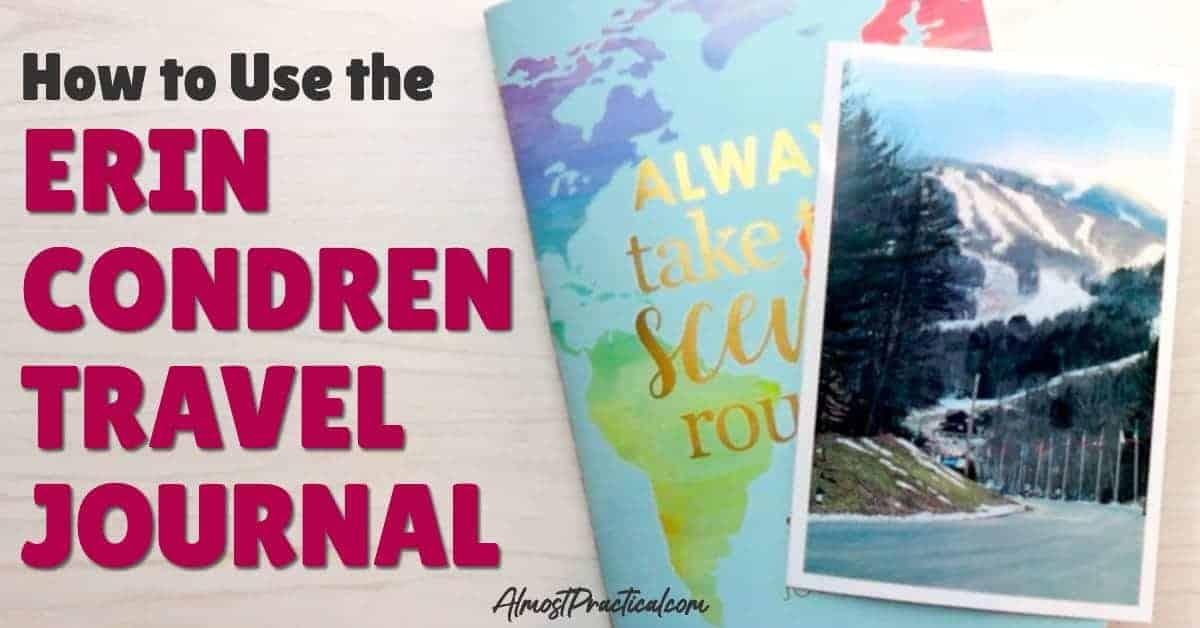 photo of the Erin Condren Travel Journal