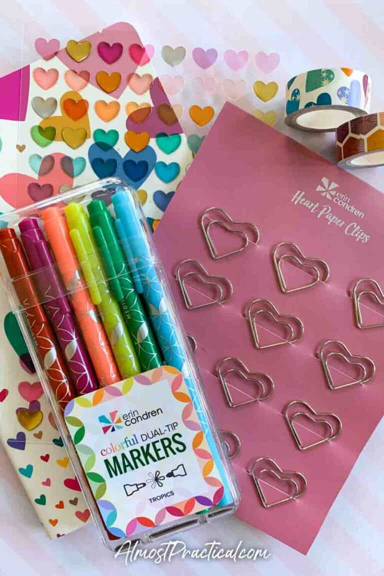 Erin Condren Valentine's Day Bundle and LifePlanner Cover Review