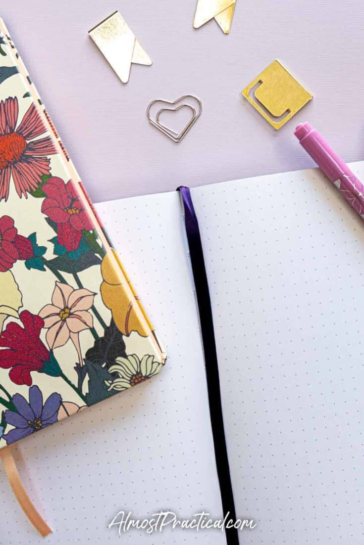 Erin Condren Softbound notebook dot grid layout