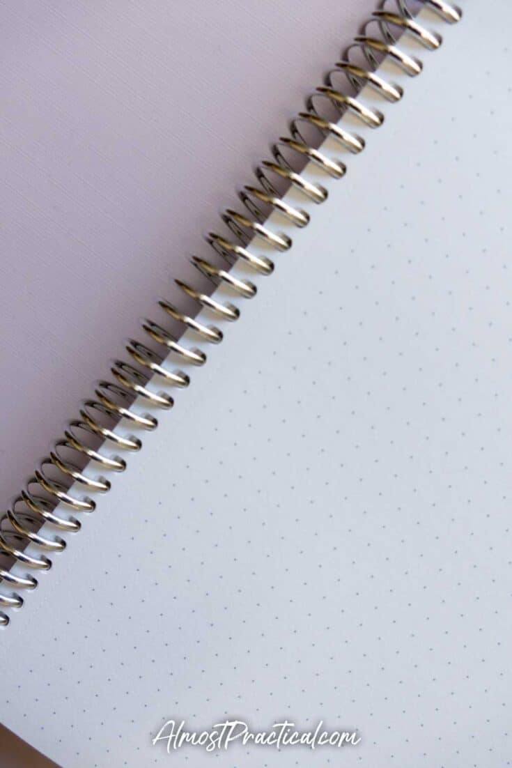 Erin Condren Coiled Notebook in dot grid pattern