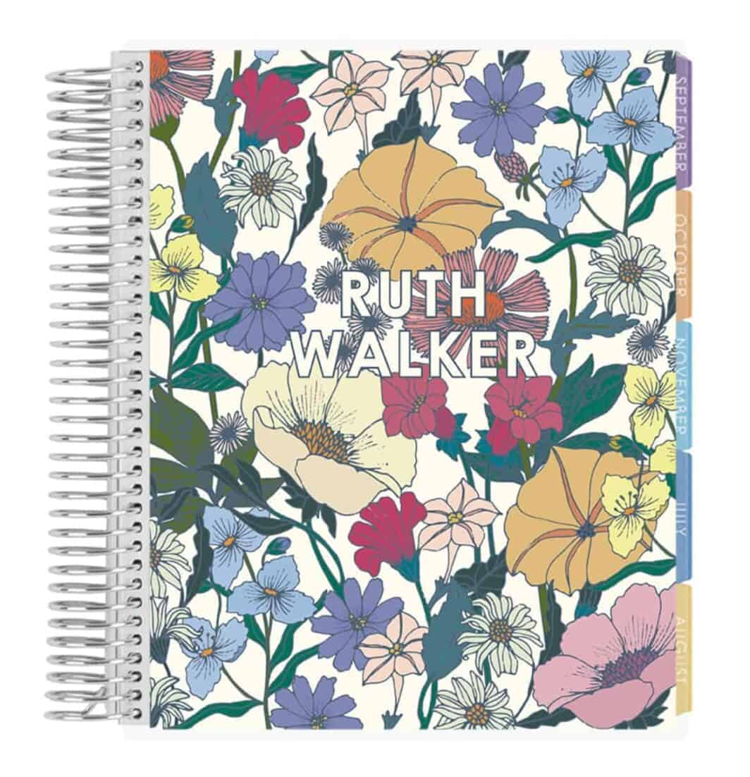 Erin Condren 12 Monthly Calendar Tabs and Stickers Organizer July 2020 - June 2021 Hourly Layout Month 2020-2021 Layers Colorful Coiled Life Planner with Layers Colorful Interior