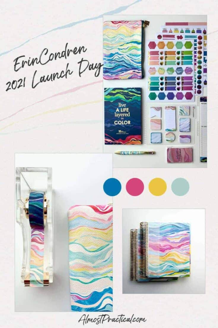 Erin Condren Planner Accessories in the Layers colorful theme.