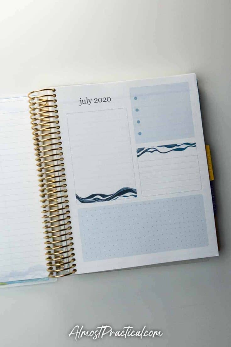 Productivity Pages in the Erin Condren Daily Coiled LifePlanner 2020-2021