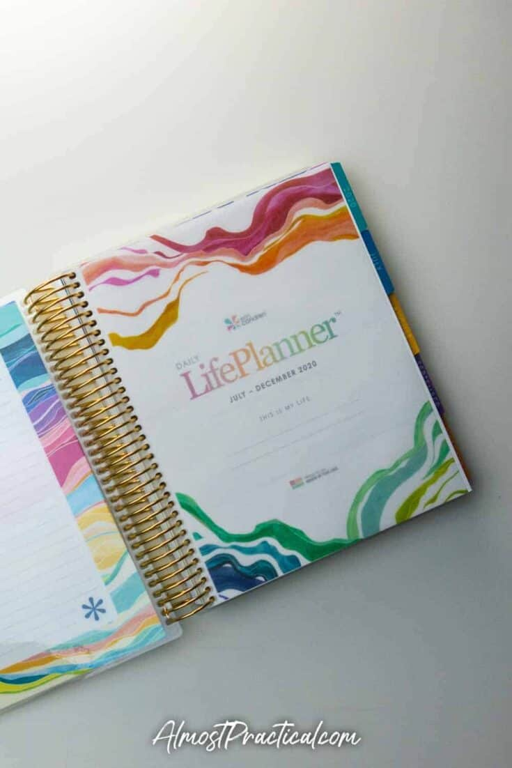 Intro pages in the Erin Condren Daily Coiled LifePlanner Layers Design 2020-2021