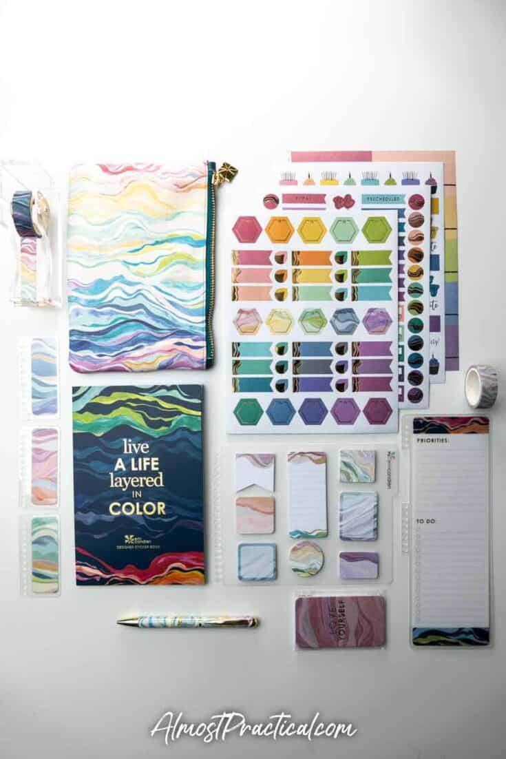 Coordinating planner accessories in the new Erin Condren Layers design.