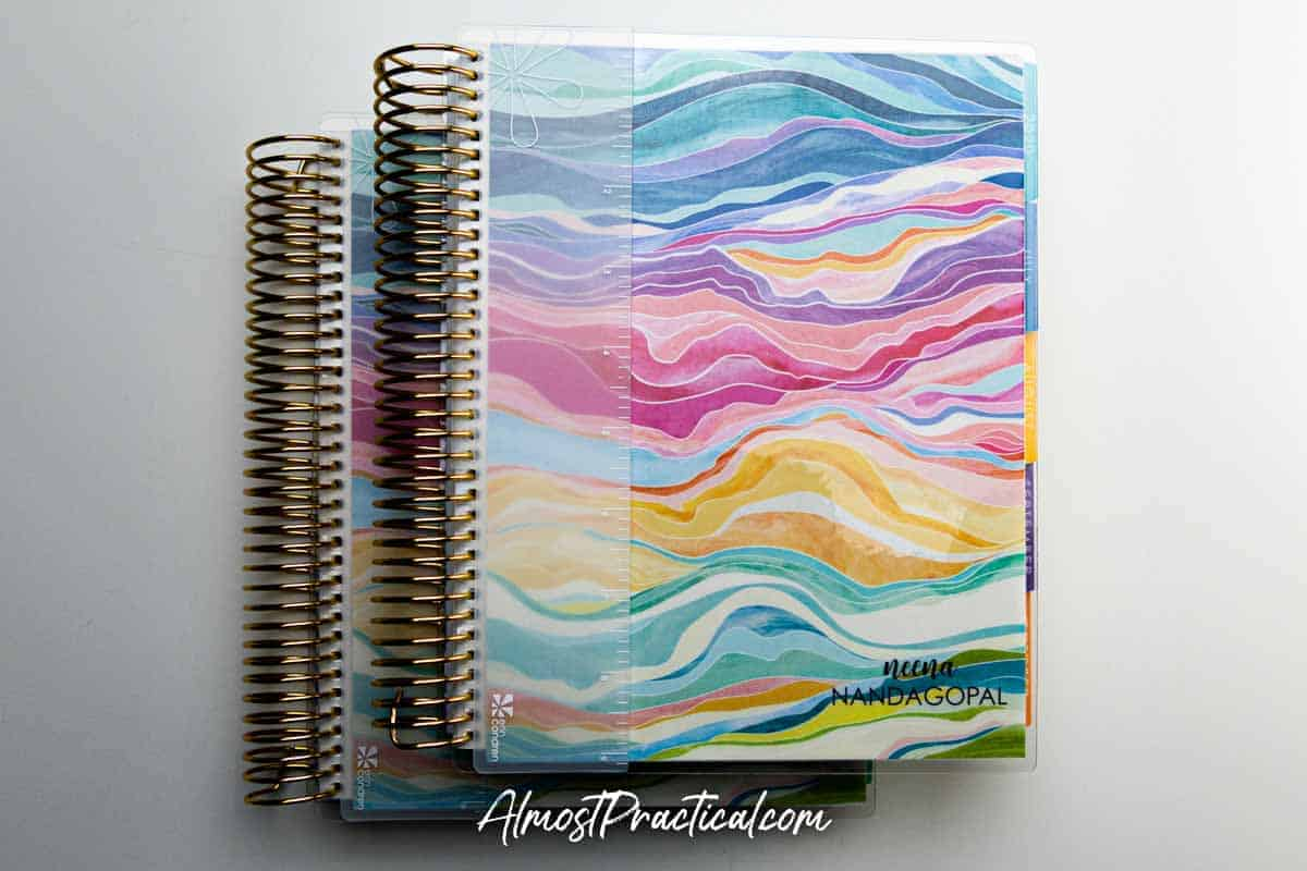 Erin Condren Daily Duo LifePlanner in the colorful Layers collection.