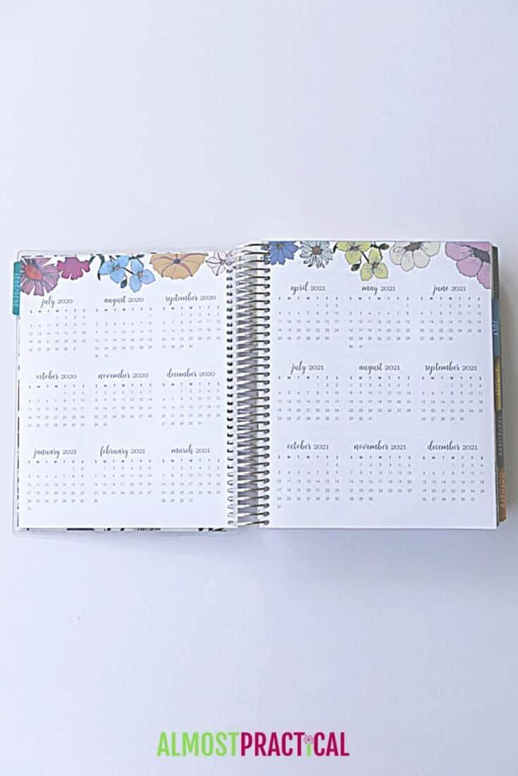 Erin Condren LifePlanner Flower Power mini months