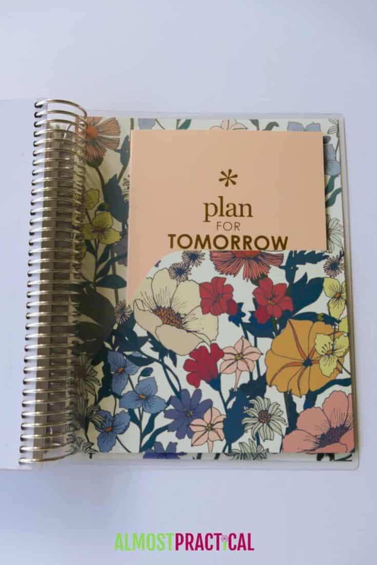 erin condren flower power lifeplanner folder and perpetual calendar