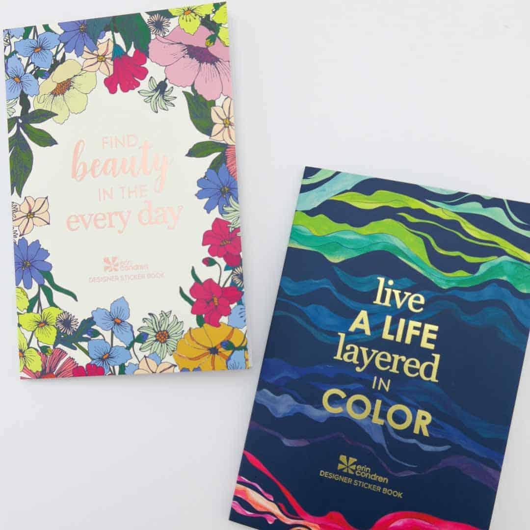 Erin Condren Flower Power and Layers sticker books