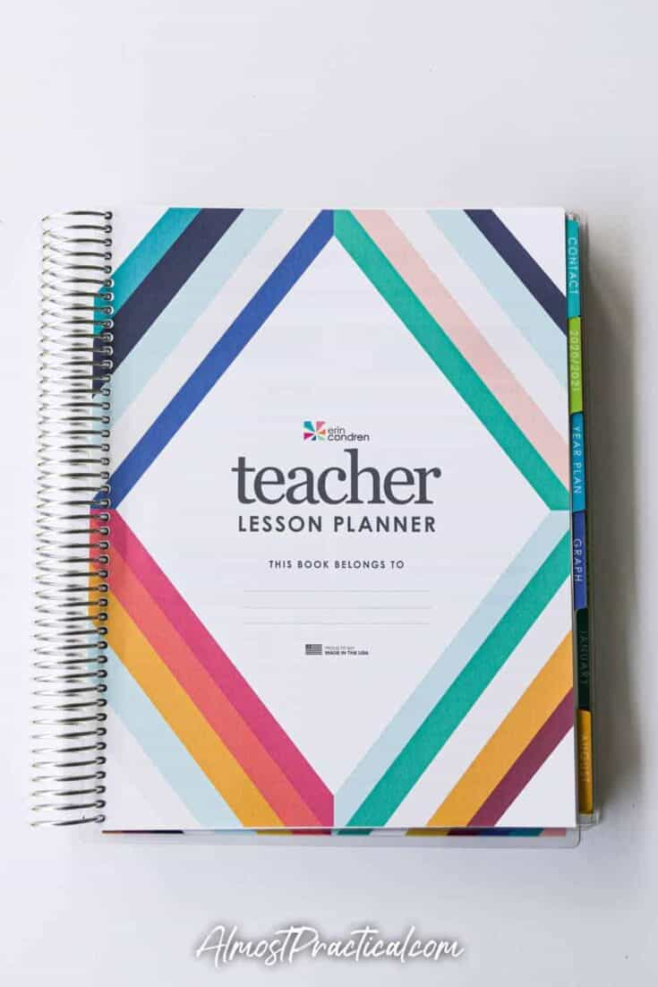Erin Condren Teacher Lesson Planner Intro page.