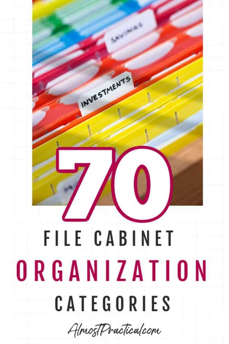 70 File Cabinet Organization Categories to Help You Conquer Your Paperwork
