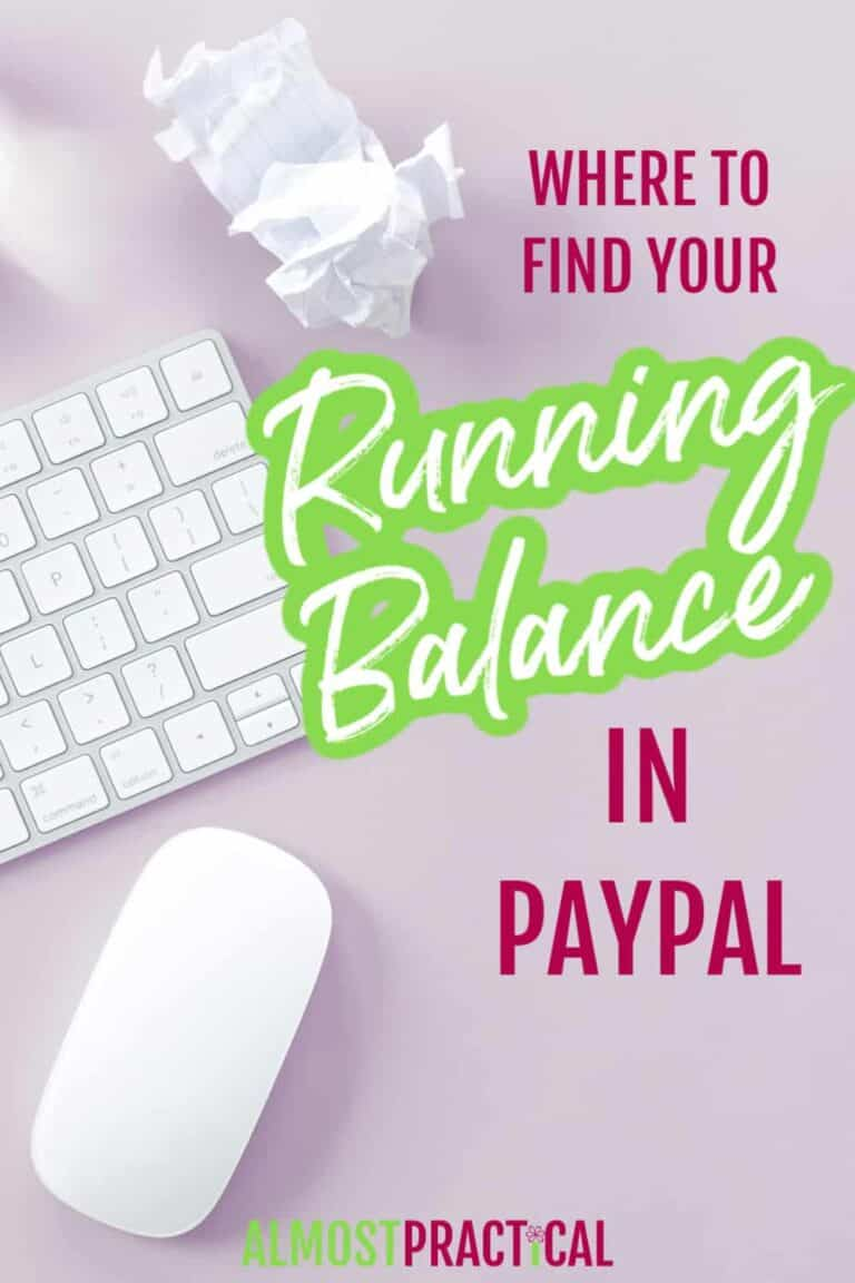 How to See a Running Balance in PayPal