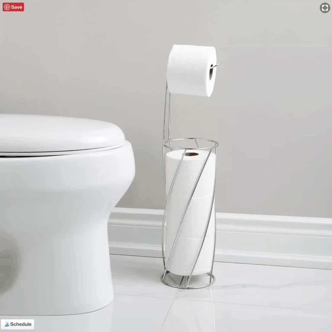 stainless toilet paper stand with storage for additional rolls from Target