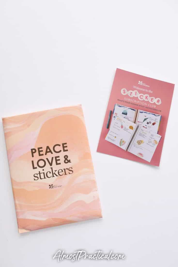 Erin Condren Sticker Club pack and card
