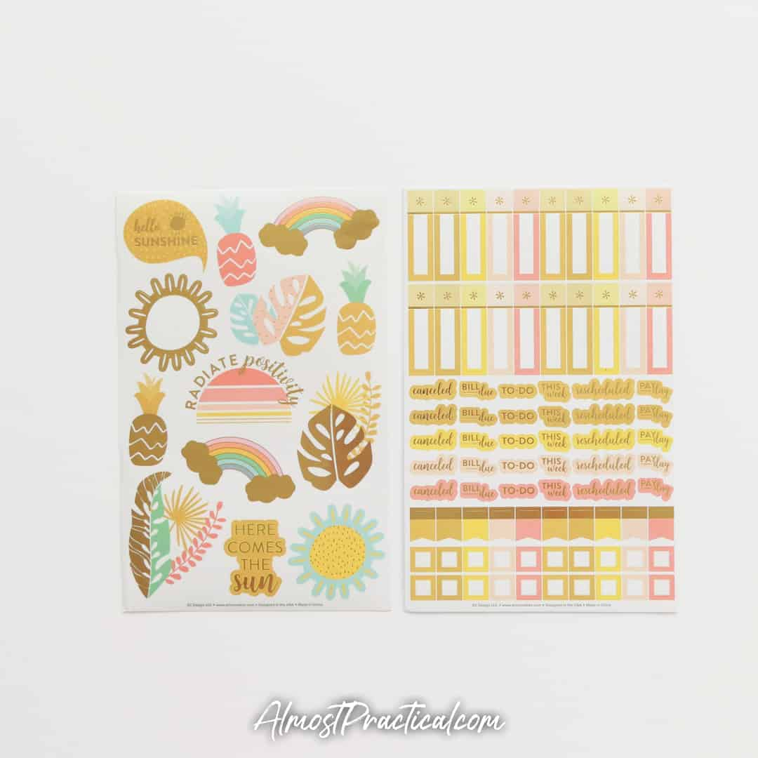 Erin Condren August planner sticker sheets