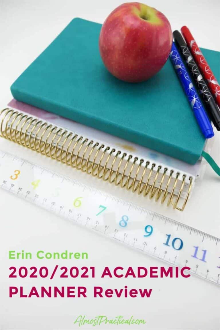 Erin Condren Academic Planner Review – 2020/2021