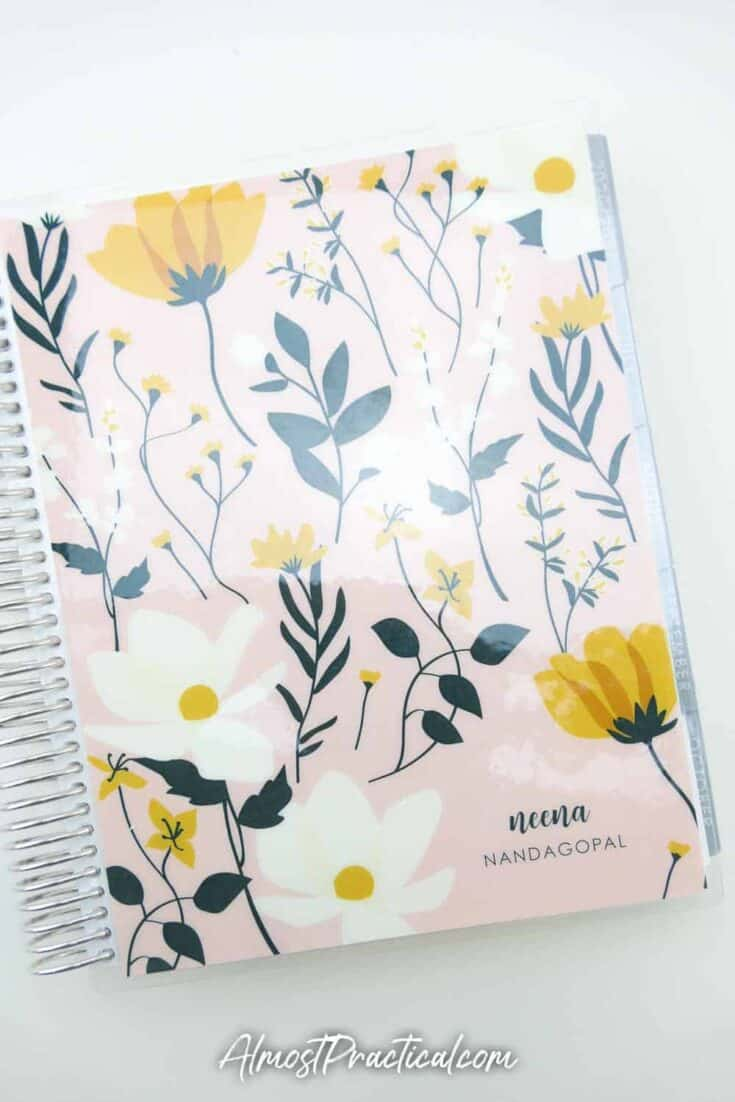 Erin Condren Monthly Planner 2020/2021 with the Wildflowers cover
