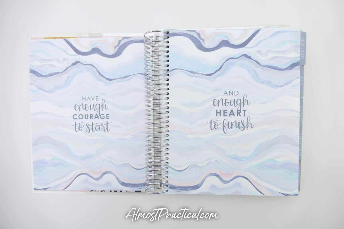 Quotes pages in the Erin Condren Monthly Planner