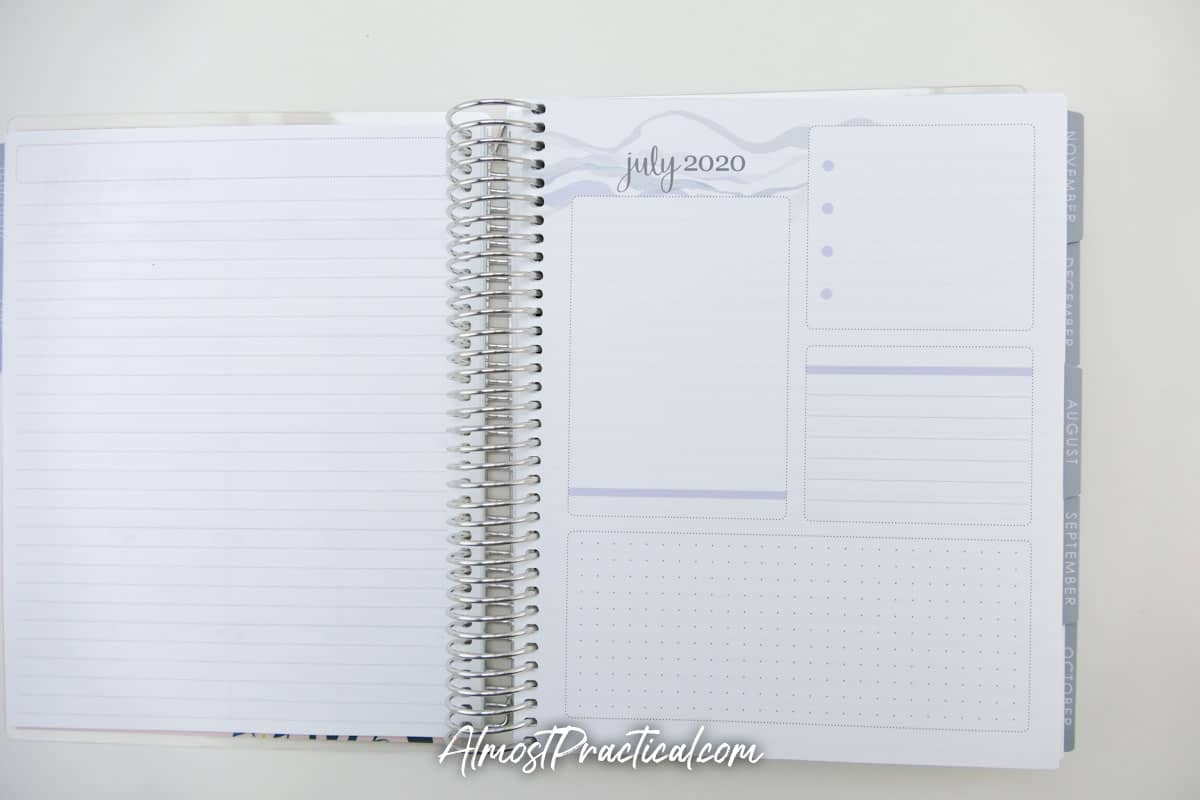 Productivity pages in the Erin Condren Monthly Planner