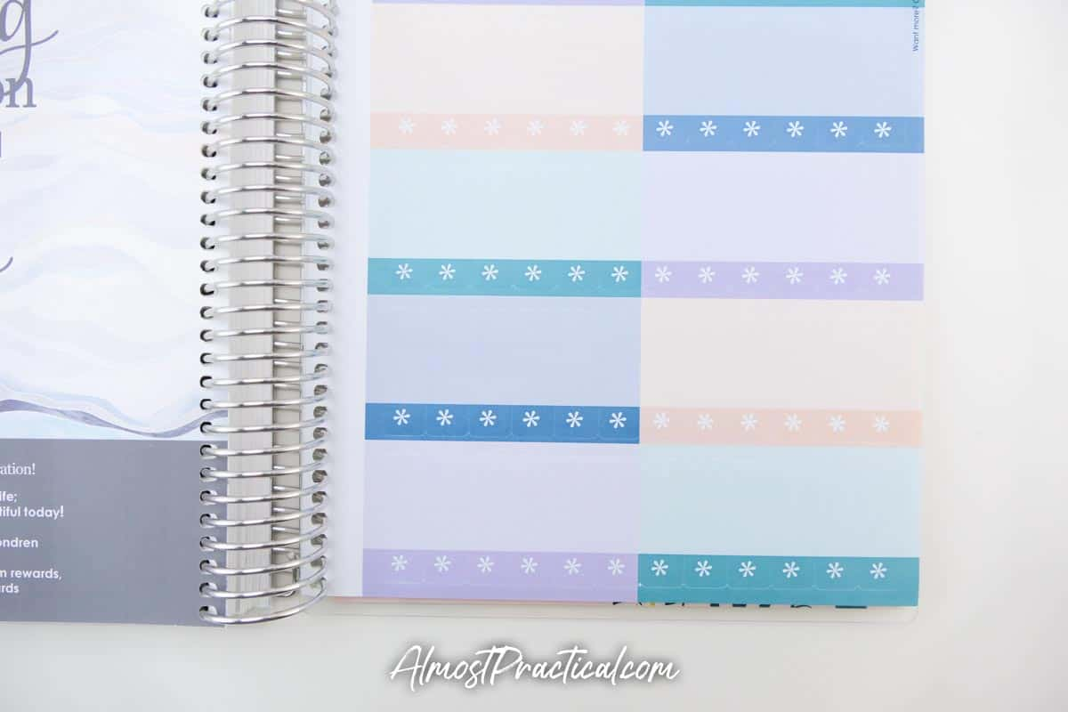 Stickers pages in the Erin Condren Monthly Planner