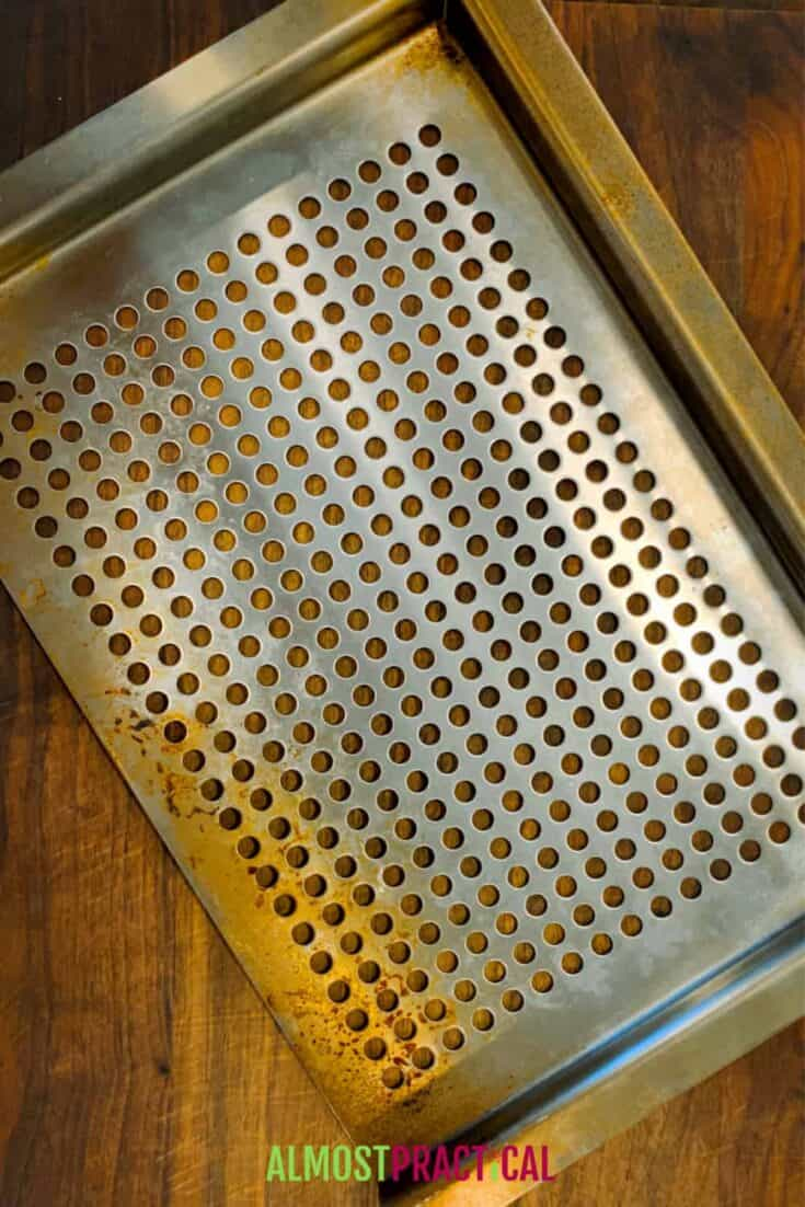 Grill topper pan with holes