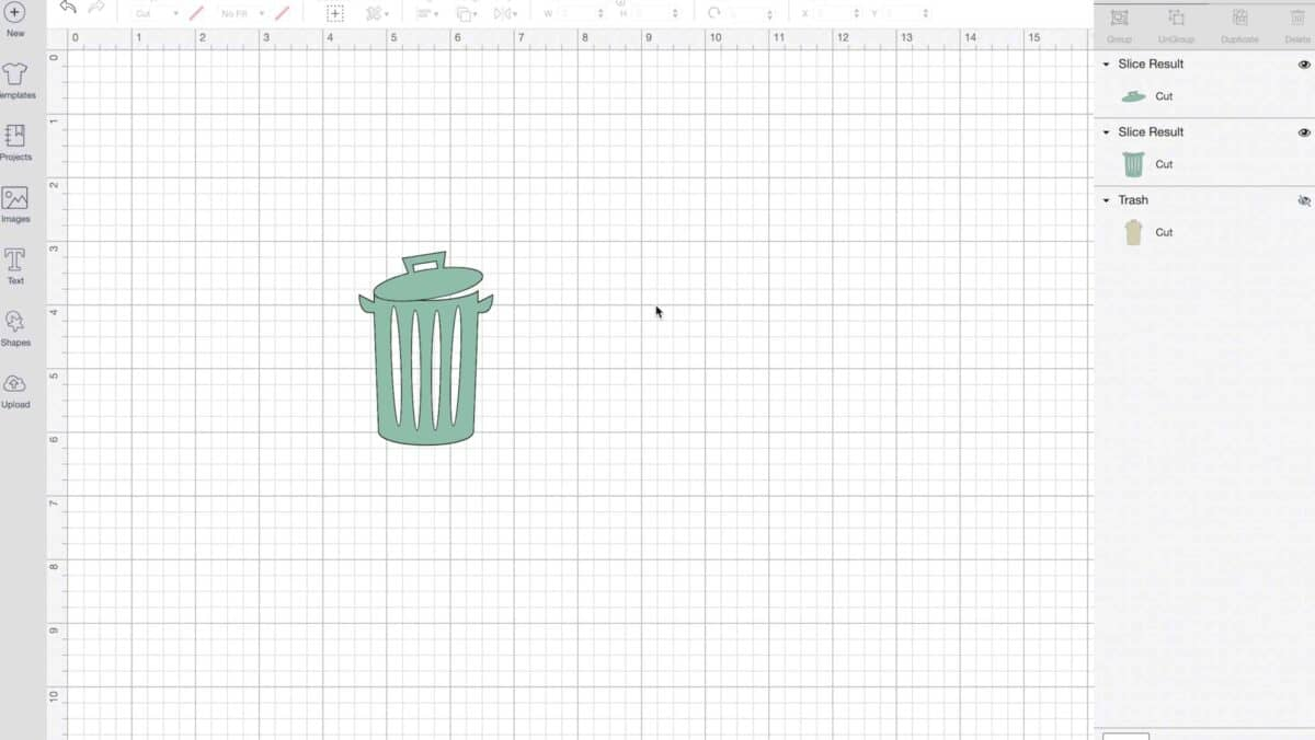 completed trash can sticker image