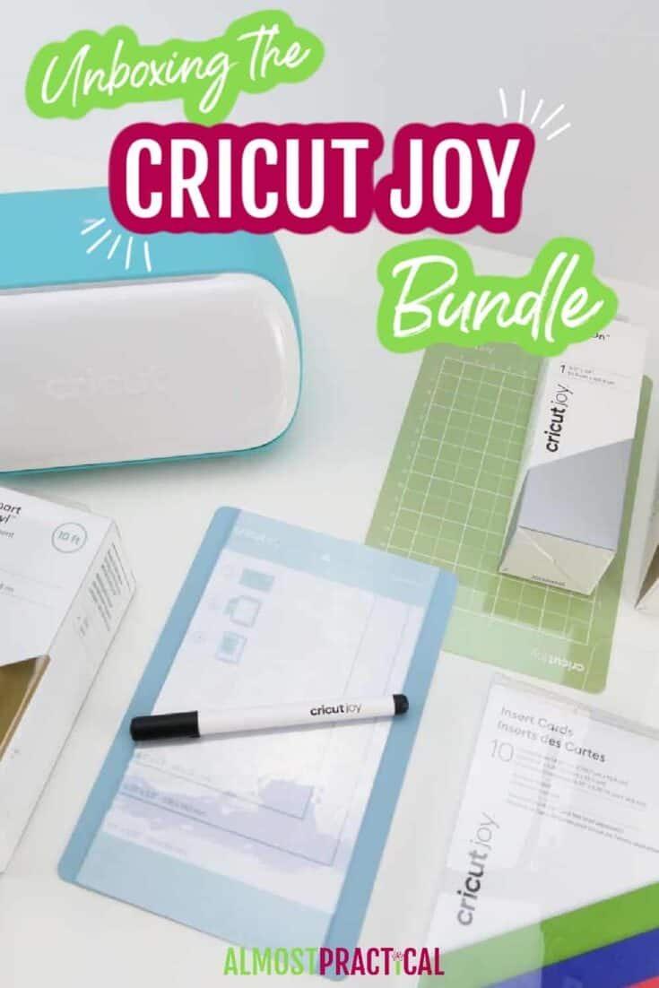 The Cricut Joy machine and supplies and materials.