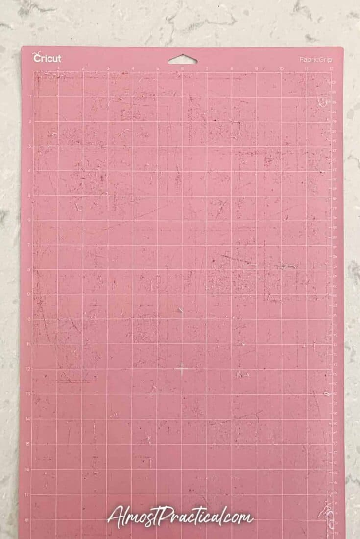 dirty pink fabricgrip Cricut mat