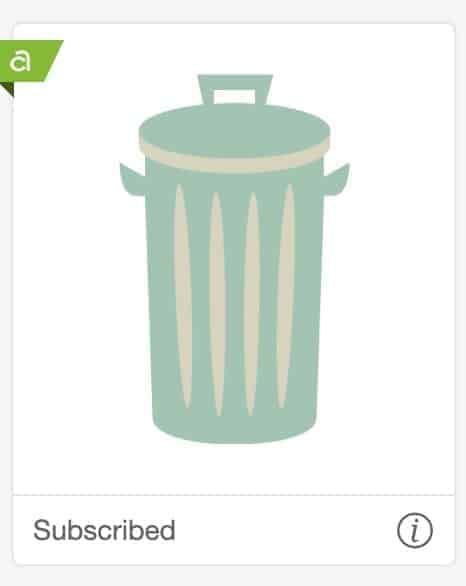 Trash can image from Cricut Access.