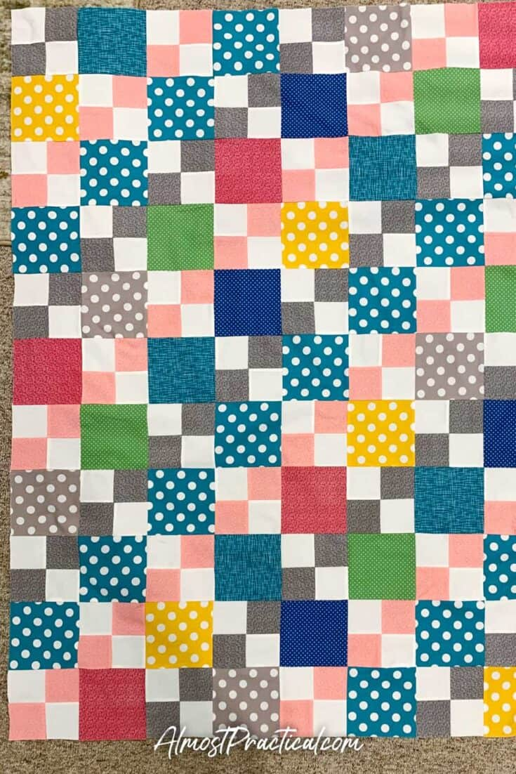 finished patchwork quilt top