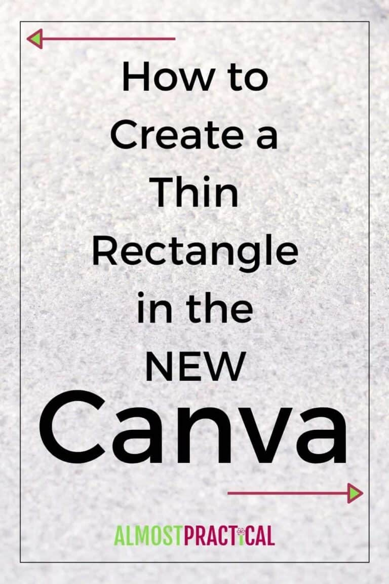 How to Create a Thin Rectangle in the NEW Canva Interface