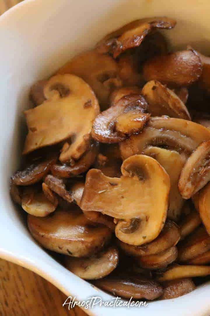 sauteed mushrooms in a bowl