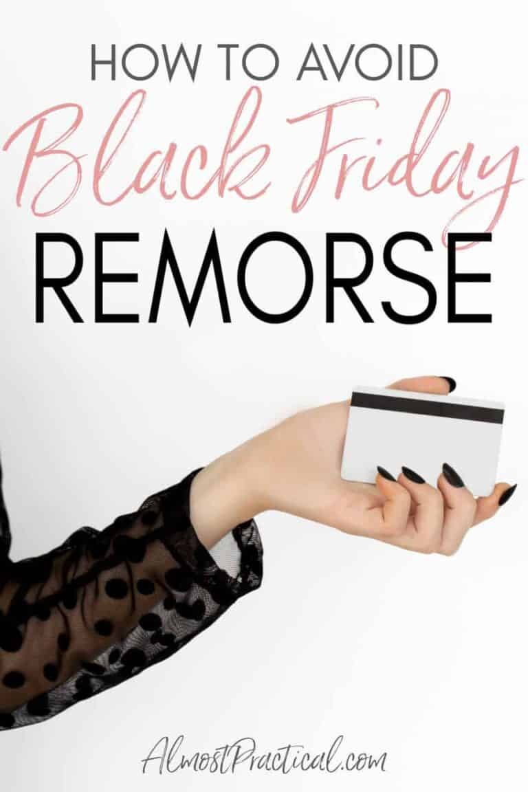 How to Avoid Black Friday Remorse