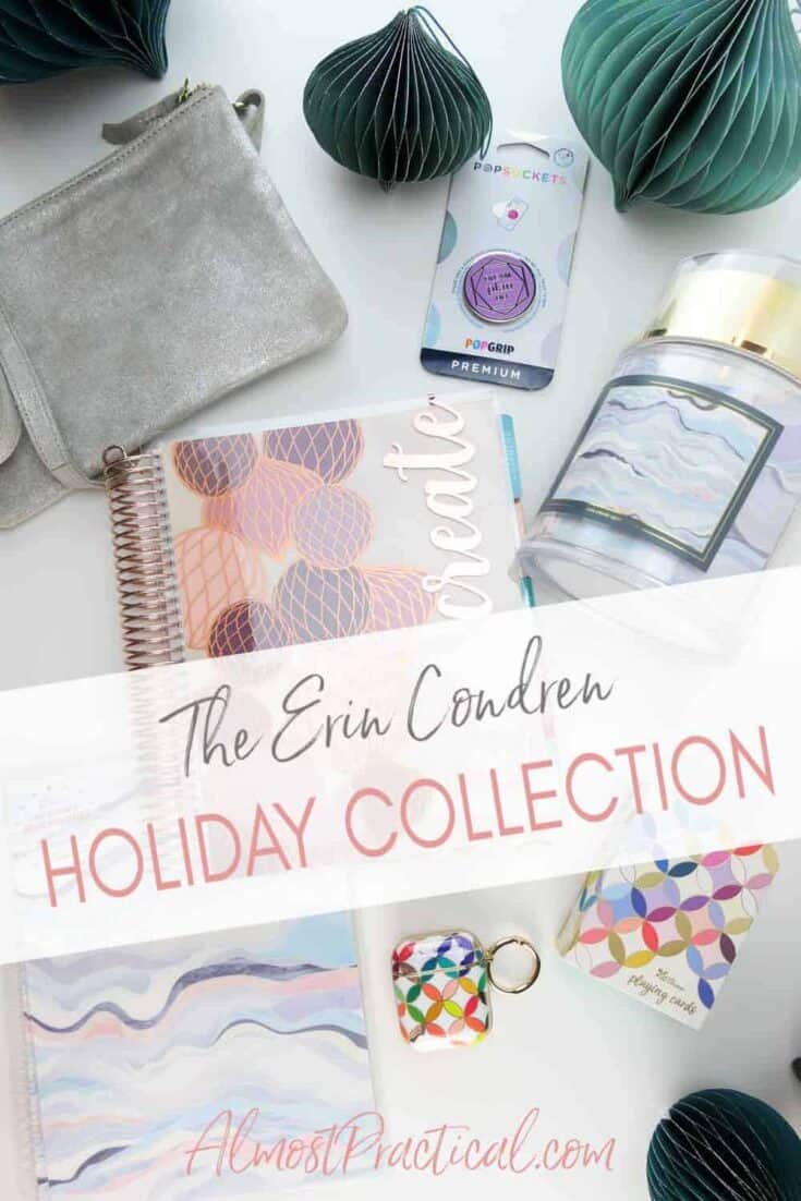 collection of items from the new Erin Condren Holiday Collection