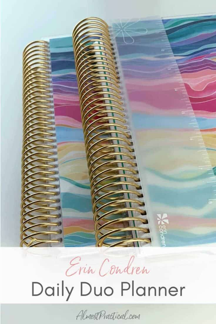 the Erin Condren Daily Duo planner