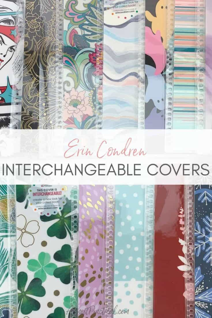 a collection of Erin Condren Interchangeable covers