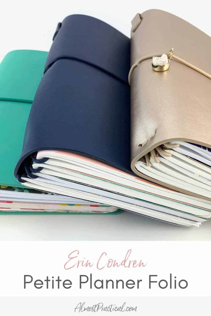 set of Erin Condren Petite Planner Folios