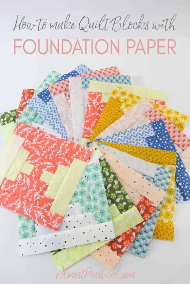 Have you tried quilting with foundation paper? It is so easy and your blocks look so square and nice. Not only that your sewing lines come out really straight. This is how you do it.