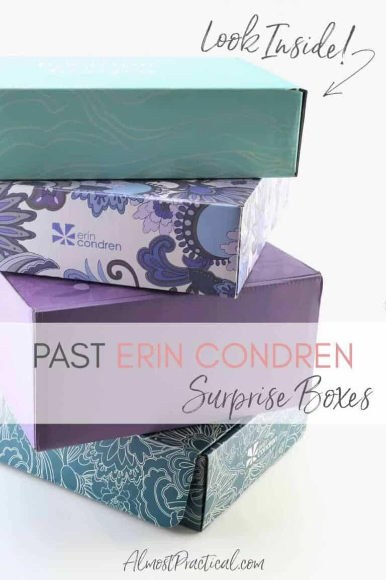 Past Erin Condren Surprise Boxes