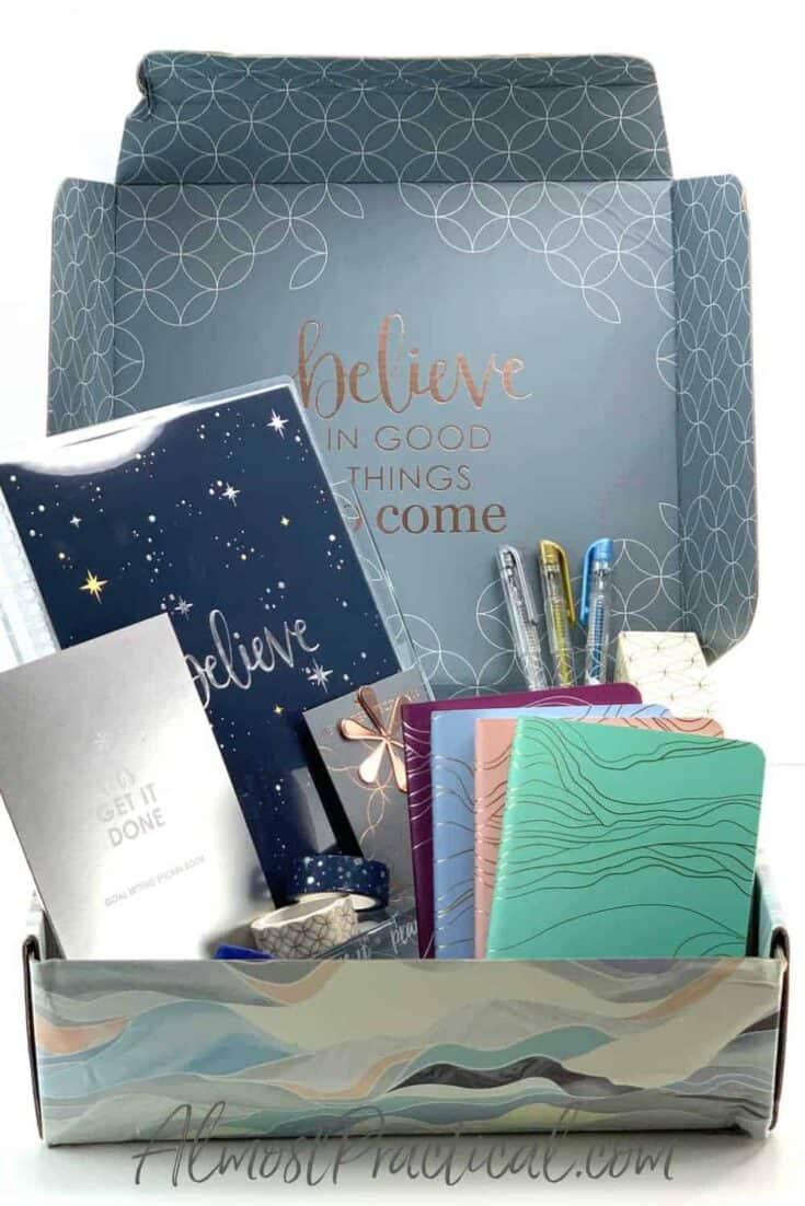 Erin Condren Winter Seasonal Surprise box for 2020 contents
