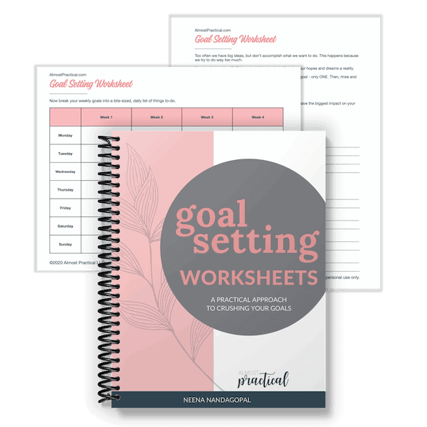 goal setting worksheet set