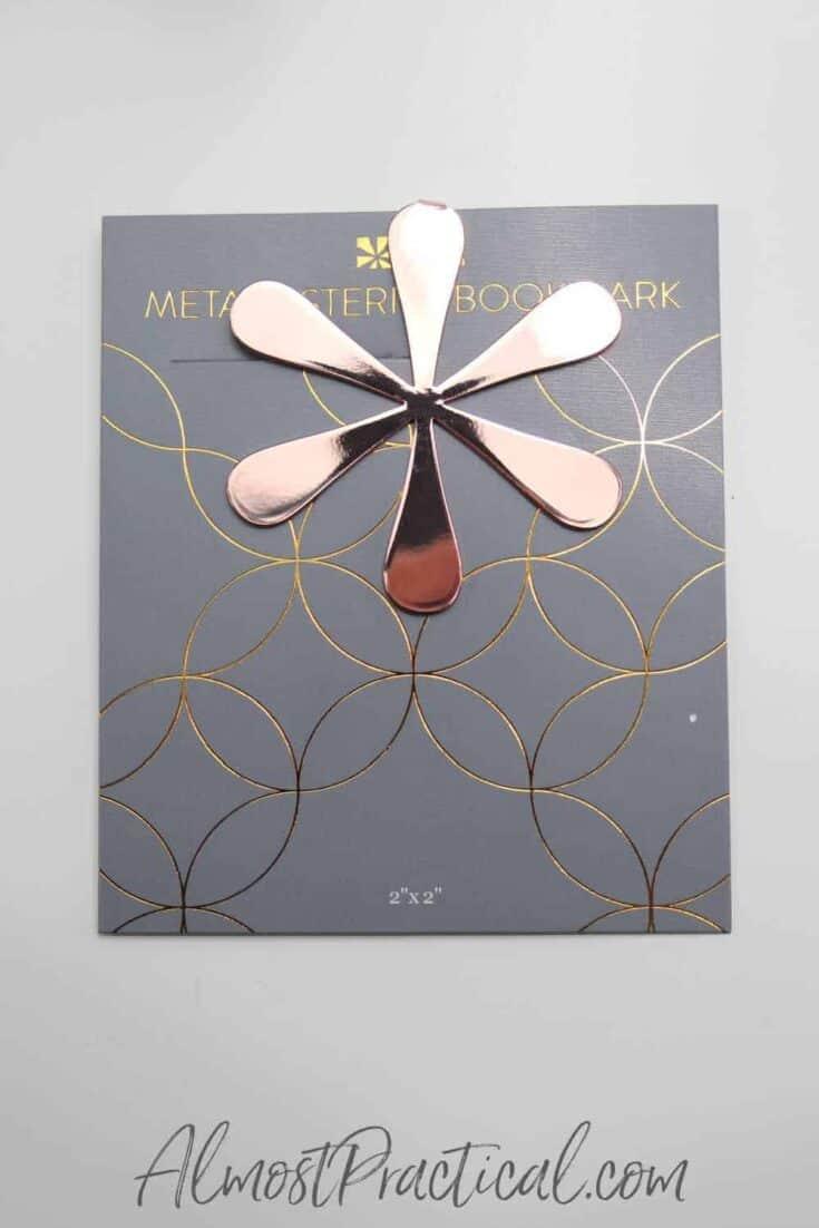 rose gold asterisk bookmark