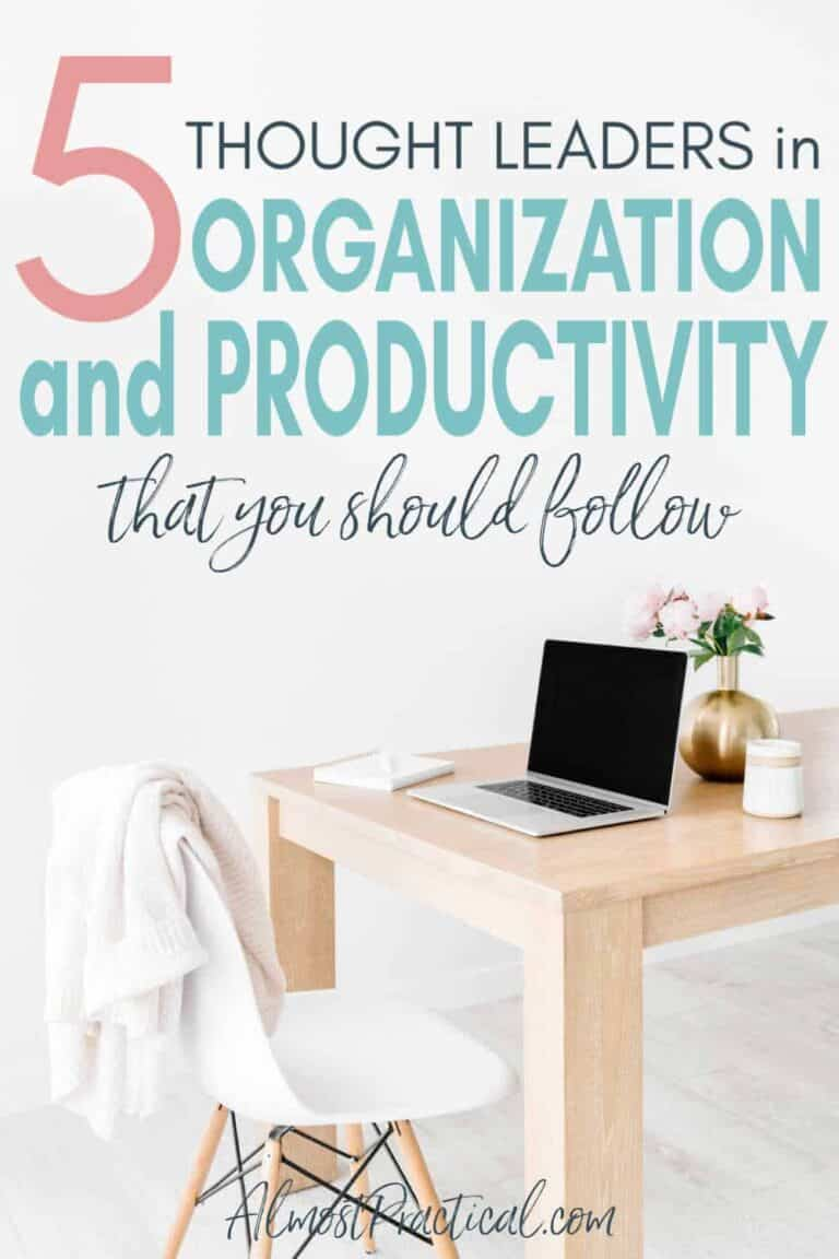5 Thought Leaders in Organizing and Personal Productivity